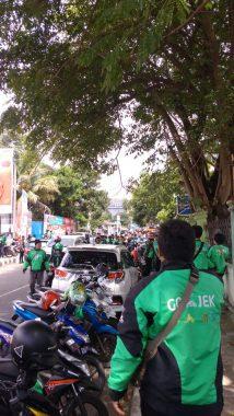 Tak Terima Kawannya Dipukul, Ratusan Ojek Online di Bandar Lampung Aksi Solidaritas di Saburai