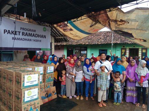 IZI Lampung Bagikan 120 Paket Ramadan untuk Keluarga Tak Mampu di Gunungsulah