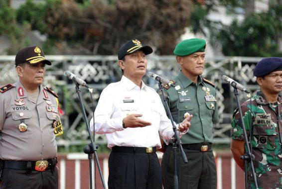 Pjs Gubernur Lampung Ingatkan Pentingnya Tiga Pilar Kamtibmas