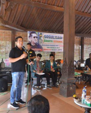 KKN Unila, Mahasiswa Hadirkan Henry Yosodiningrat Sosialisasi Antinarkoba