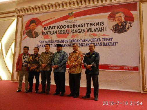 Kadis Sosial Lampung Hadiri Rakor Bansos