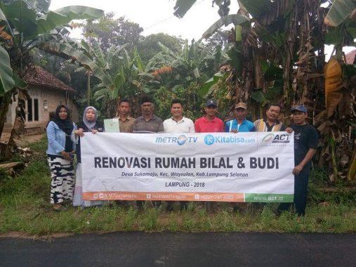 ACT Lampung Mulai Renovasi Rumah Bilal Penderita Lumpuh di Way Sulan, Yuk Ikutan Donasi