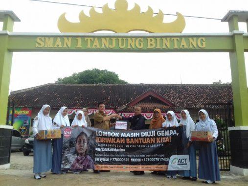 ACT Lampung Apresiasi Rohis Lamsel Galang Dana Korban Gempa Lombok