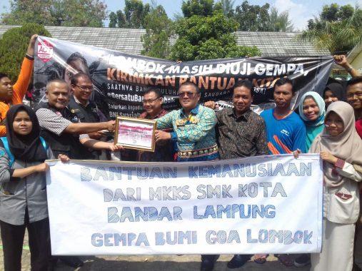 MKKS Bandar Lampung Salurkan Bantuan Korban Gempa Lombok ke ACT