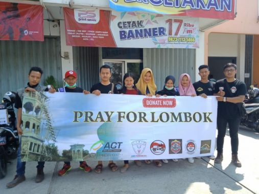 Komunitas Bikers Pringsewu dan MRI ACT Lampung Galang Donasi Korban Gempa Lombok