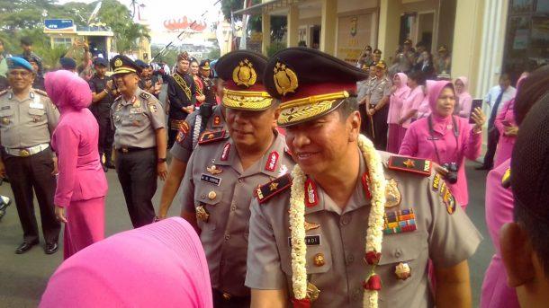 Kapolda Lampung yang Baru Brigjen Purwadi Arianto Tiba di Mapolda