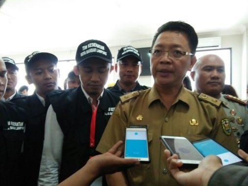 Wali Kota Bandar Lampung Herman HN Terima Laporan Relawan Lombok