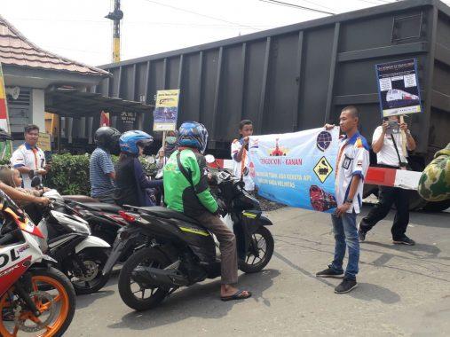 PT KAI Tanjungkarang Sosialisasi Keselamatan Berlalu Lintas