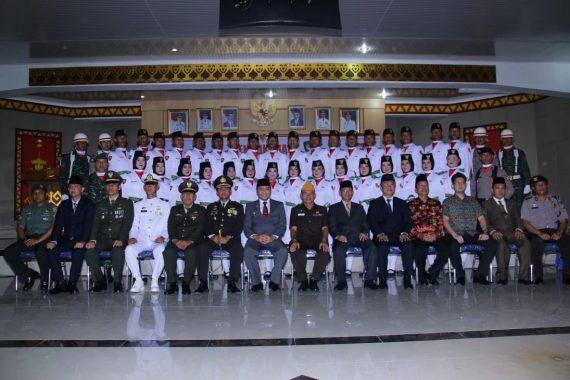 Agung Ilmu Mangkunegara Motivasi Paskibraka Lampung Utara