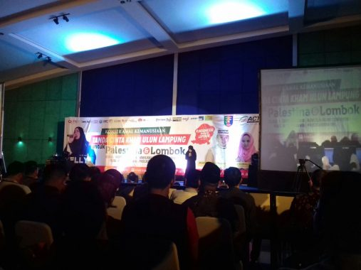Konser Melly Goeslaw untuk Palestina-Lombok Gelaran ACT Lampung, Gojek Jadi Relawan