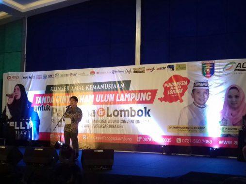 Konser Melly Goeslaw untuk Palestina-Lombok, Ini Pesan Kepala Cabang ACT Lampung