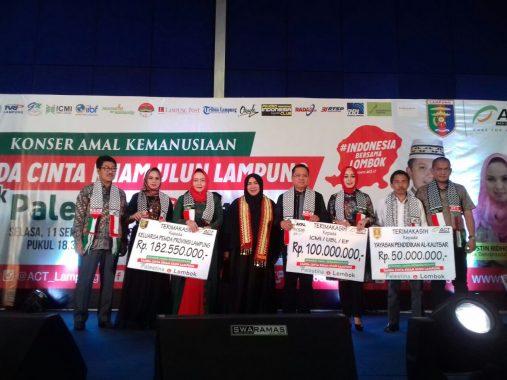 Konser Kemanusiaan Melly Goeslaw untuk Palestina-Lombok, Ini Sambutan Gubernur Lampung