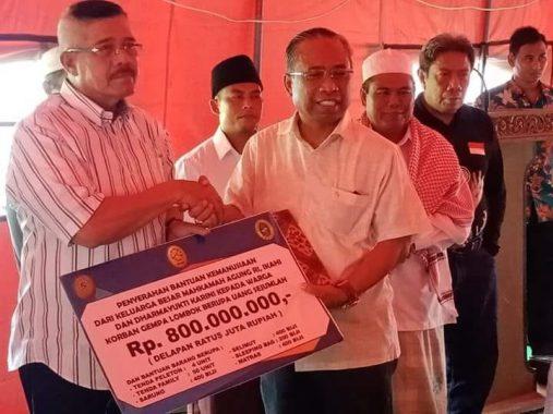 Ketua Mahkamah Agung Donasi untuk Korban Gempa Lombok