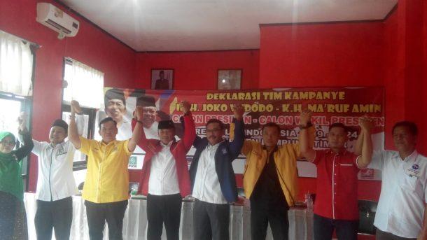 Partai Pengusung Jokowi-Ma'ruf Amin di Lampung Timur Deklarasikan Tim Pemenangan