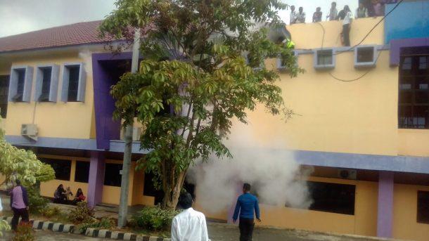 Kabel Listrik Terbakar, Mahasiswa FKIP Unila Waswas Kebakaran