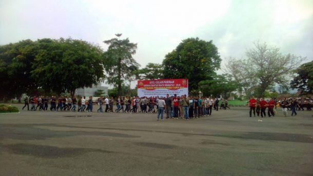 Polda Lampung Apel Pasukan Siap Kawal Pemilu-Pilpres 2019