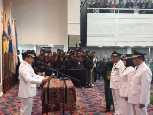 Loekman Resmi Bupati Lamteng, Dewi Handajani-AM Syafii Dilantik Jadi Bupati-Wakil Bupati Tanggamus