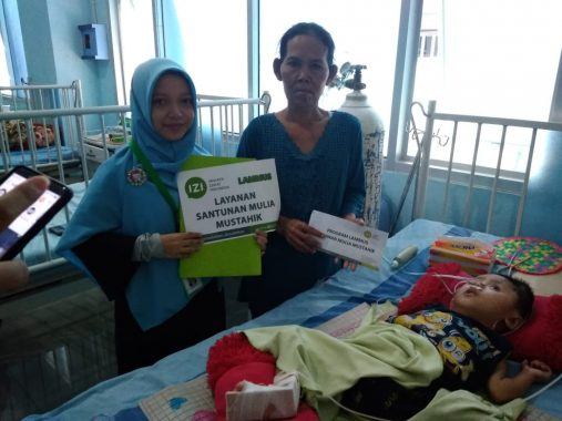 IZI Lampung Bantu Aditya Balita Hydrocephalus