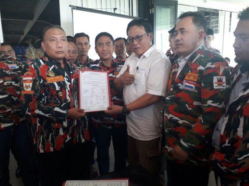 Laskar Merah Putih Teken Kesepakatan dengan Polda Lampung, Jaga Iklim Kondusif Pemilu-Pilpres