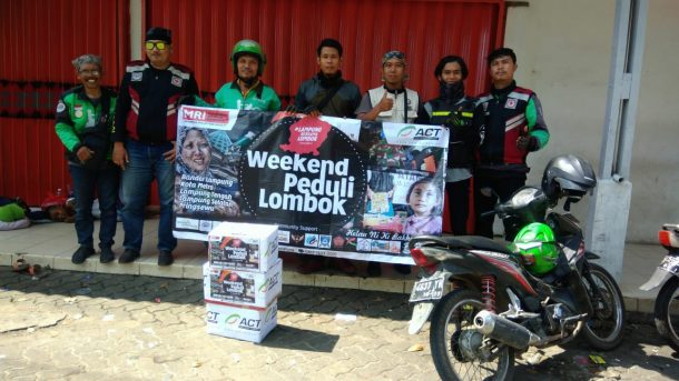Gesit dan Tangkas, Gaspool Galang Dana Peduli Lombok, Hasil Disalurkan ke ACT Lampung