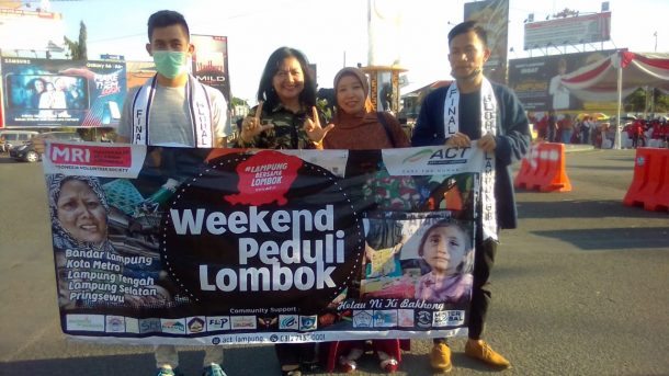 Ikut Galang Donasi Lombok Inisiasi ACT Lampung, Pemuda Panca-Marga: Merdeka!