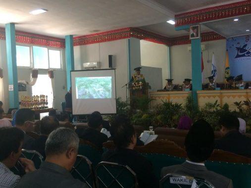 Advertorial: Dies Natalis Unila Ke-53, Tradisi Lampung Warnai Rapat Senat Luar Biasa