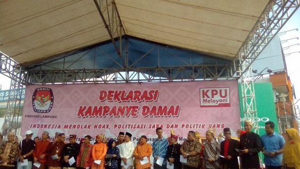 KPU Lampung Gelar Deklarasi Kampanye Damai