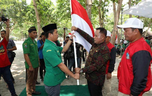 Plt Bupati Lampung Selatan Lepas Kirab Satu Negeri GP Ansor