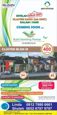 Eh Mau Ada Blok M Lho di Lampung, Gawean Perumnas, Baca Deh yang Mau Punya Hunian Nyaman dan Terjangkau