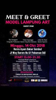 Model Lampung Art Gelar Meet and Greet, 3 Narasumber Dihadirkan