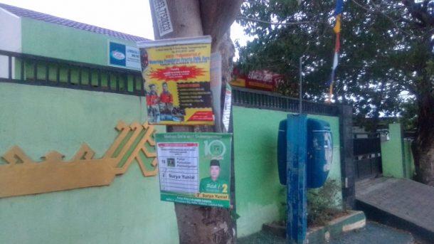 Alat Peraga Kampanye Masih Ada Terpaku di Pohon, Abaikan Imbauan KPU Lampung
