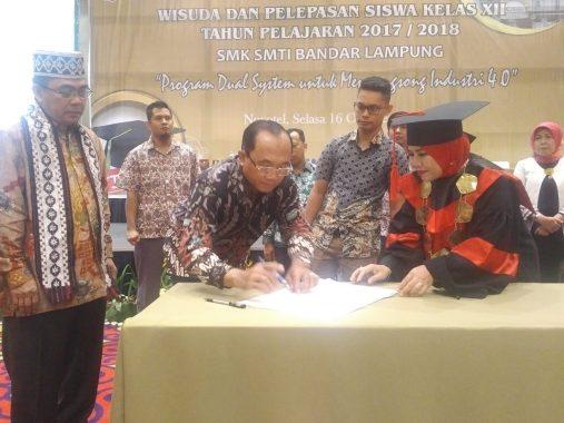 Program Dual System, SMK SMTI Bandar Lampung Teken Kerja Sama dengan 17 Perusahaan