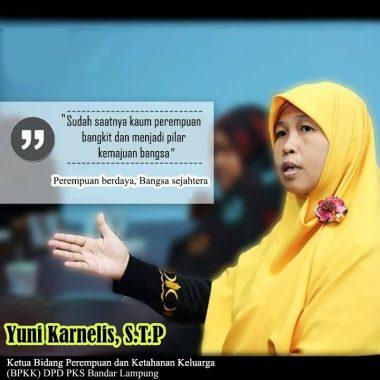 Tokoh Perempuan Lampung Yuni Karnelis: Perempuan Pilar Kemajuan Bangsa