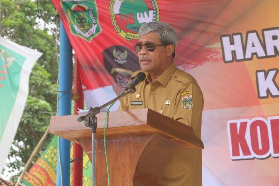 Bupati Lampung Tengah Loekman Pimpin Upacara Hari Koperasi