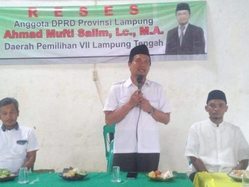 Reses di Kotabatu Pubian Lampung Tengah, Mufti Salim Terima Banyak Masukan