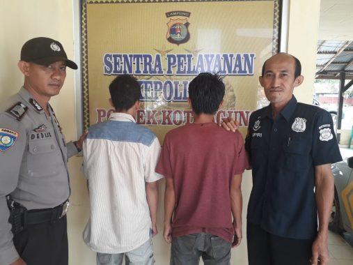 Dua Pencuri di Rumah Kosong Ditangkap Petugas Polsek Kotaagung Tanggamus
