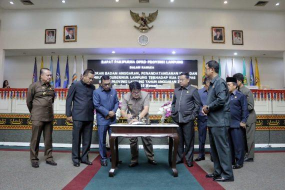 Pemprov-DPRD Lampung Sepakati KUA-PPAS APBD 2019