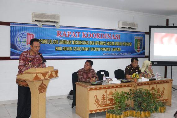 Biro Hukum Pemprov Dorong Integrasi Informasi Hukum Kota/Kabupaten