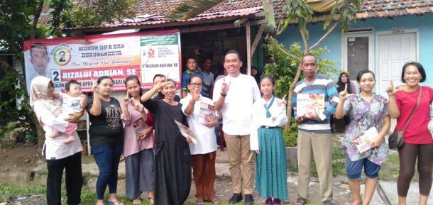 Rizaldi Adrian Ajak Warga Telukbetung Selatan Pilih Caleg Berintegritas