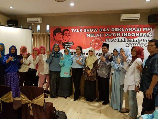 Melati Putih Indonesia Lampung Deklarasikan Relawan Prabowo-Sandi