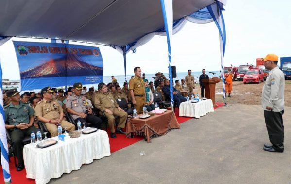 Pemkab Lampung Selatan Gelar Simulasi Penanganan Korban Gempa dan Tsunami