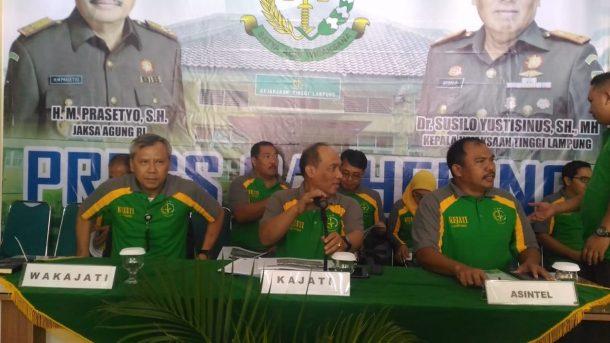 Kejaksaan Tinggi Lampung Klaim Selamatkan Uang Negara Rp1 Miliar Selama 2018