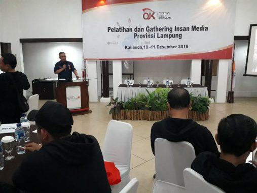 Otoritas Jasa Keuangan Lampung Silaturahmi dengan Wartawan