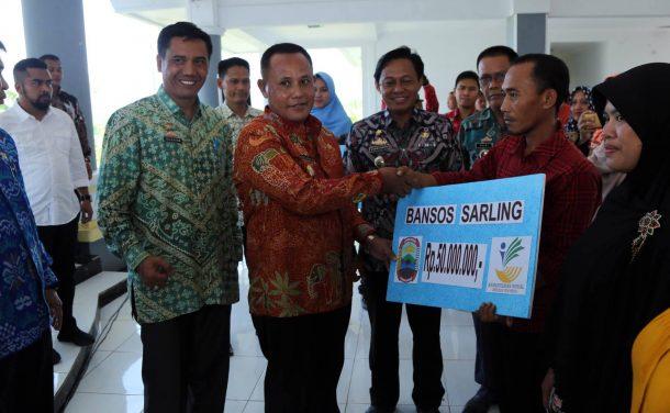 Pemkab Lampung Selatan Salurkan Bantuan Pemerintah Pusat