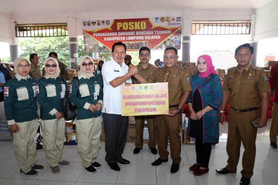 Pemkot Prabumulih Salurkan Bantuan untuk Korban Tsunami Lampung Selatan