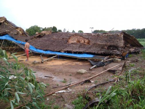 Puting Beliung Landa Desa Setia Bakti Lampung Tengah, Beberapa Rumah Rusak