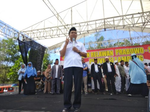 Pengukuhan Relawan Ganti Presiden di Poncowati Lampung Tengah, Ini Orasi Dewan Syuro Ahmad Mufti Salim