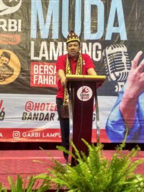 Orasi Deklarasi Garbi Lampung, Ini Ringkasan Pidato Fahri Hamzah