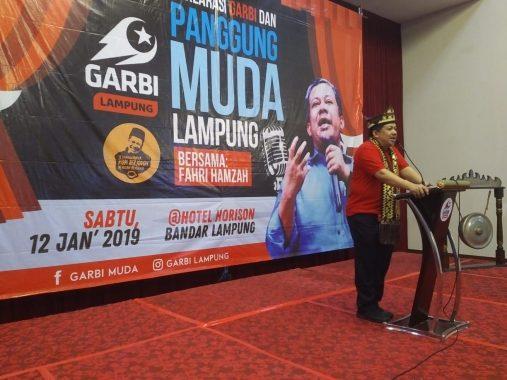 Hadiri Deklarasi Garbi Lampung, Ini Kata Fahri Hamzah Soal Pemilu dan Pilpres