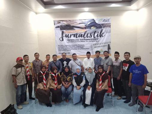 Yoga Pratama Isi Lokakarya Jurnalistik Kemanusiaan Gelaran ACT Lampung di Rumah Dinas Ketua DPRD Metro Anna Morinda